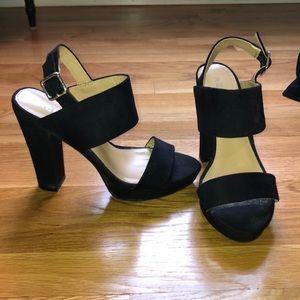 Report black platform heels
